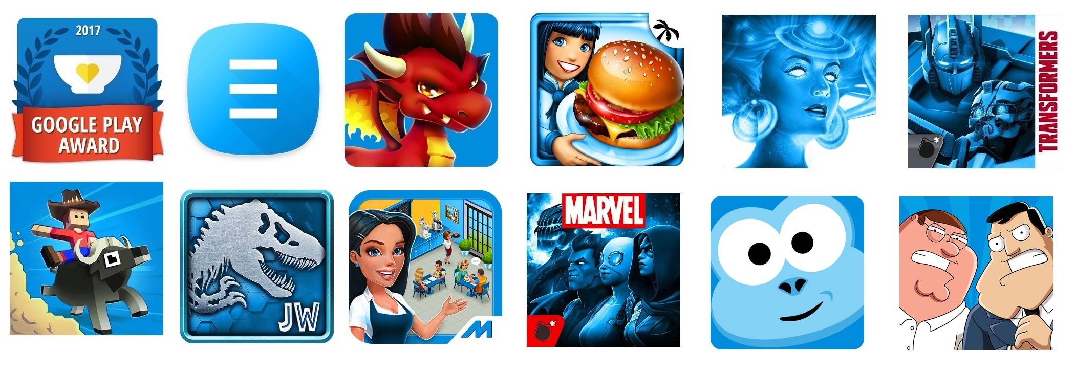 Google Play's Apps and Games Against Hunger collection