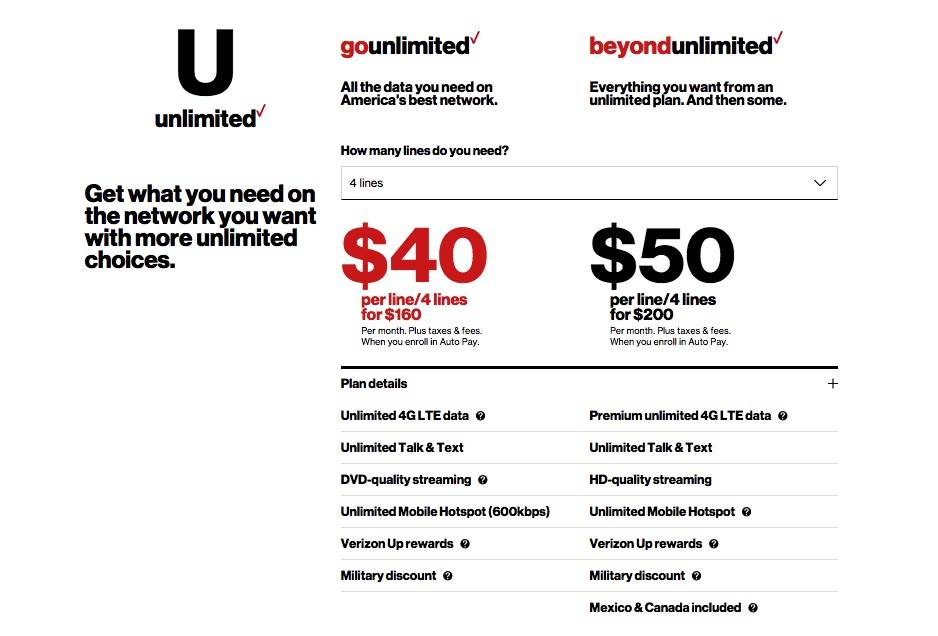 Verizon Go Unlimited Plan gets Canada and Mexico usage