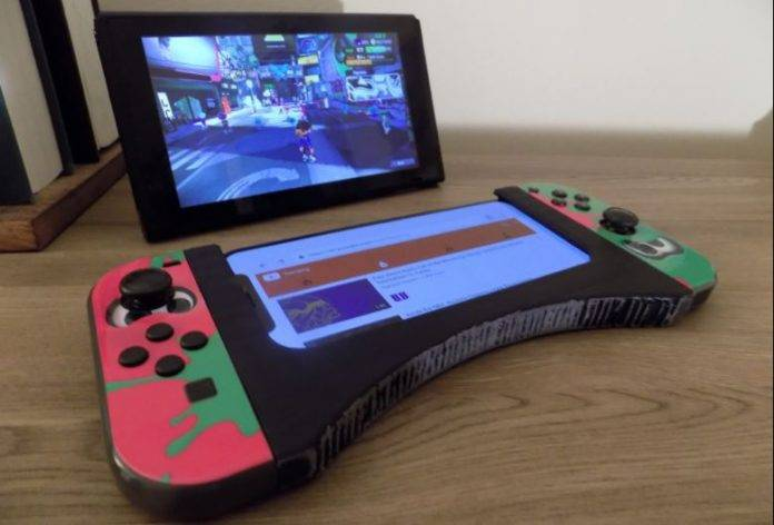 3D print a grip case to use Switch Joy Cons with your phone