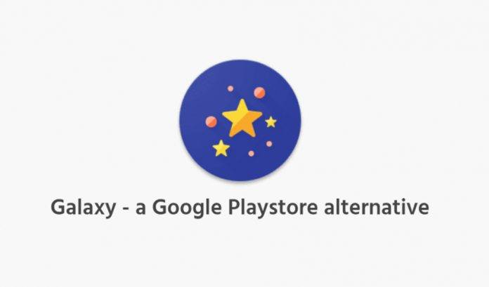Galaxy is actually the Yalp Store, just in Material Design