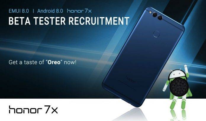Huawei Honor 7X is being beta tested for EMUI 8 0, Android