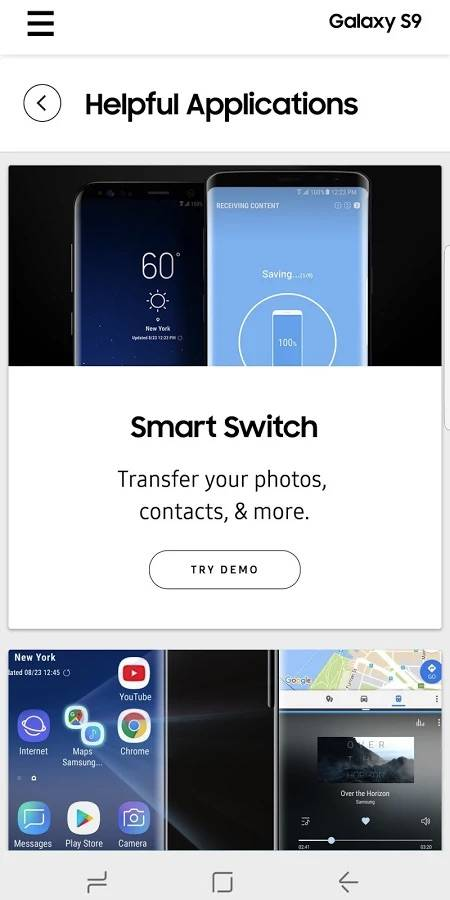 Experience app lets you try the Galaxy S9/S9+ features - Android