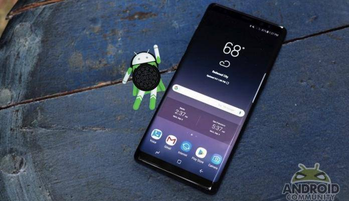 Unlocked Samsung Galaxy Note 8 ready for the Android Oreo update