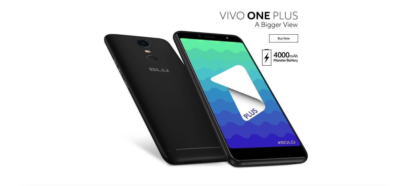 BLU Vivo One Plus debuts with 4000mAh batt, 18:9 display