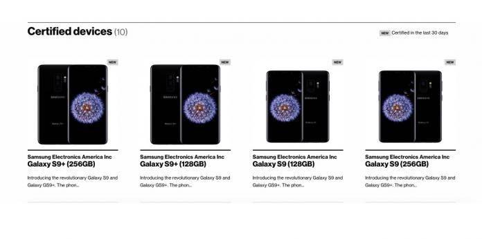 Samsung Galaxy S9 128GB Galaxy S9+ 256GB