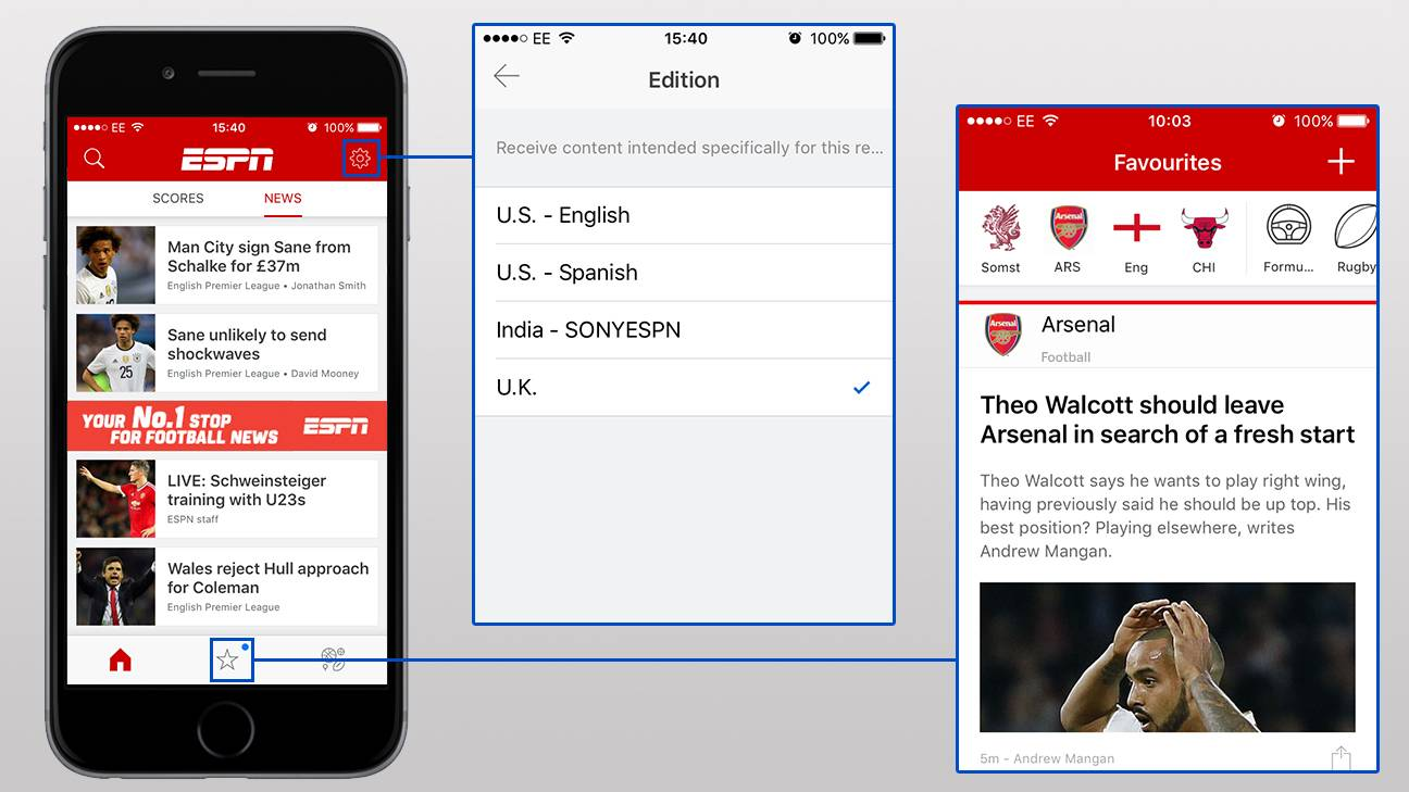 New 'redesigned' ESPN app released, with premium ESPN+
