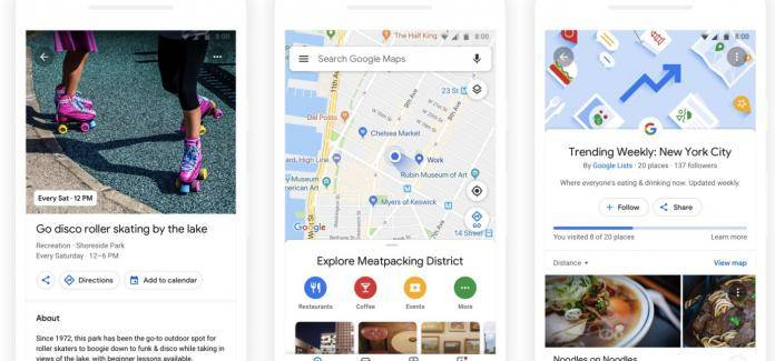 Google Maps app to receive Material Theme place cards