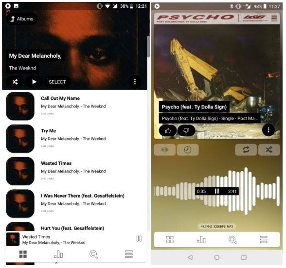 Poweramp V3 beta shows off radical redesign, brings OpenSL HD Audio