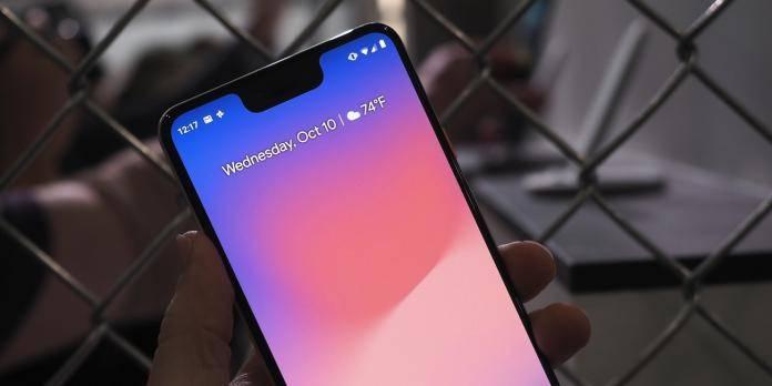 Google Pixel 3 XL Notch Hide Option