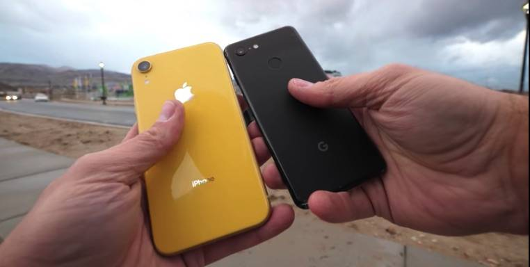 Drop Test: Apple iPhone XR versus Google Pixel 3 - Android