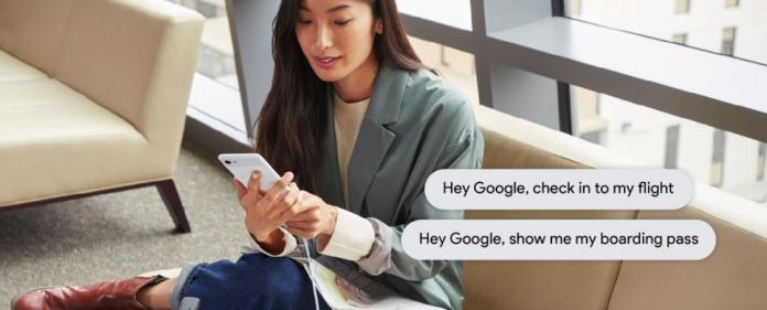 Google Assistant checkin flight