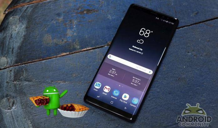 Android Pie will be served for Galaxy Note 8 ahead of Galaxy S8