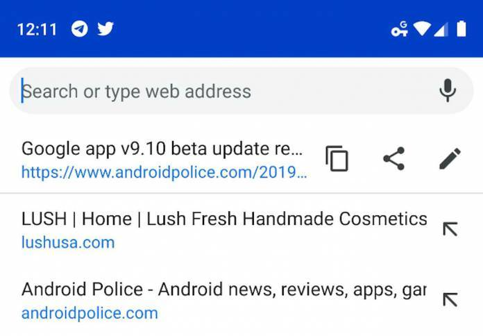 Chrome testing out a search-friendly omnibox in mobile app - Android