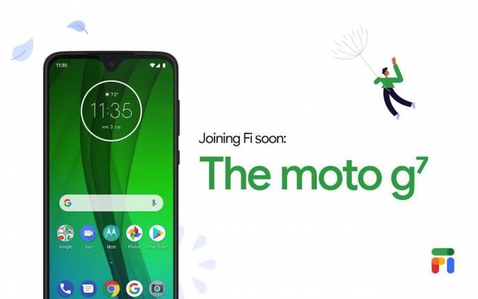 Google Fi Moto G7