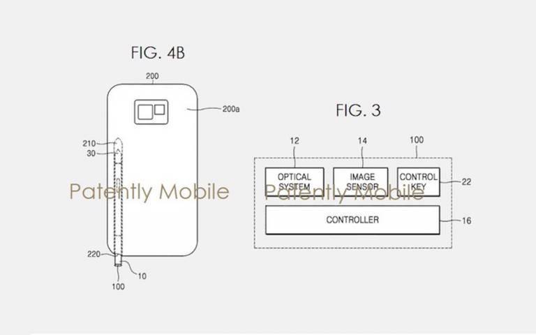 Samsung Galaxy Note S Pen camera patent granted