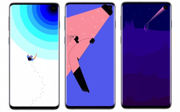 Samsung Galaxy S10, S10+ wallpapers up on Galaxy Themes