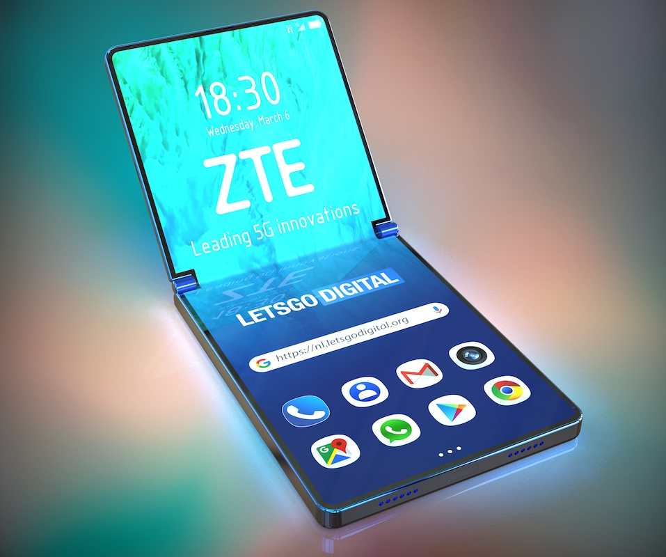 ZTE foldable phone image renders go online - Android Community