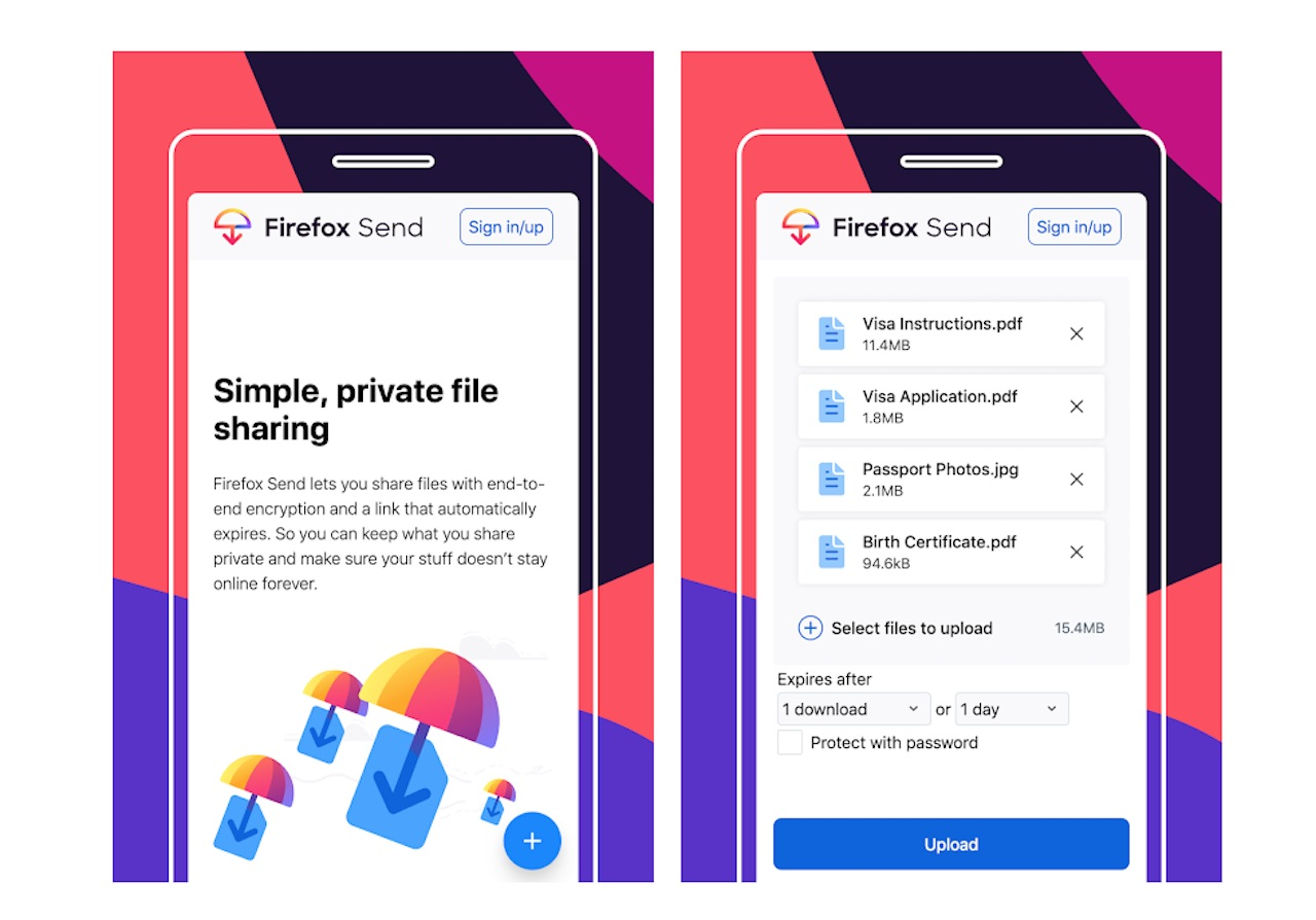 Firefox Send for Android now available for your file