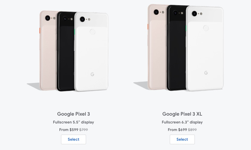 Google Pixel 3 Pixel 3 XL Discount