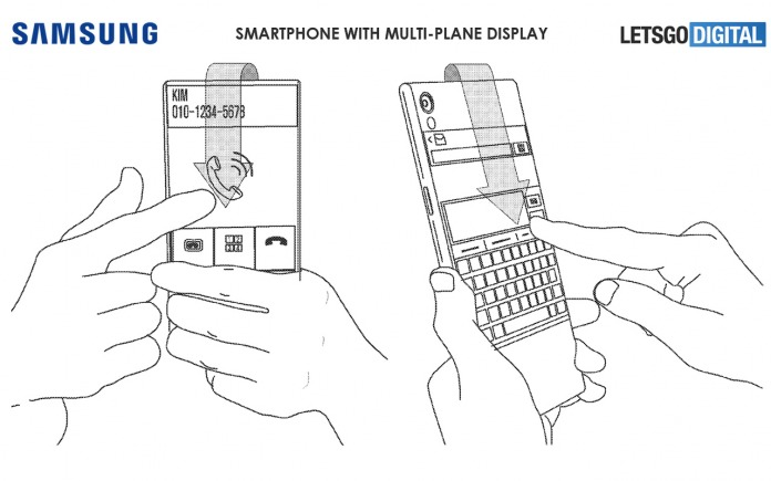 Samsung multi-plane display patent illustration copy