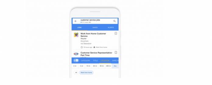 Google now has work-at-home filter for your job searches