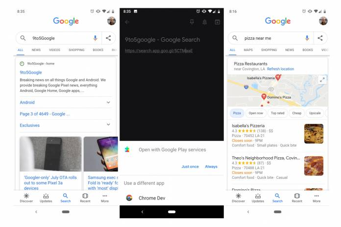 Google app tests an easier way to share search results - Android