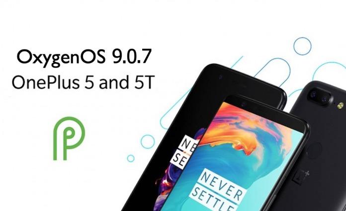 OxygenOS 9.0.7 OTA OnePlus 5 OnePlus 5T