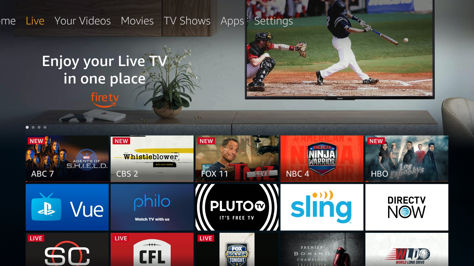 amazon fire tv brings live tab for easier access to live