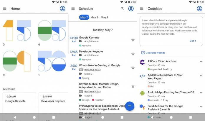 GOOGLE IO APP for Android 2019