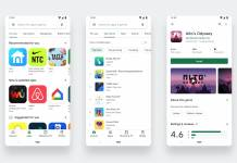 Google Play store visual refresh new design August 2019