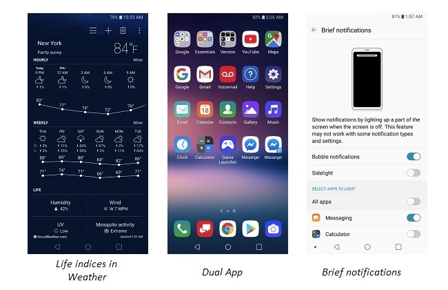 LG V30 Software Update Features