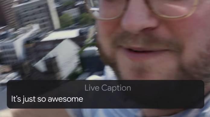 LIve Caption Feature Pixel 4 D