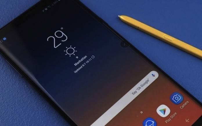 Samsung Galaxy Note 9 60Hz to 120Hz display rate