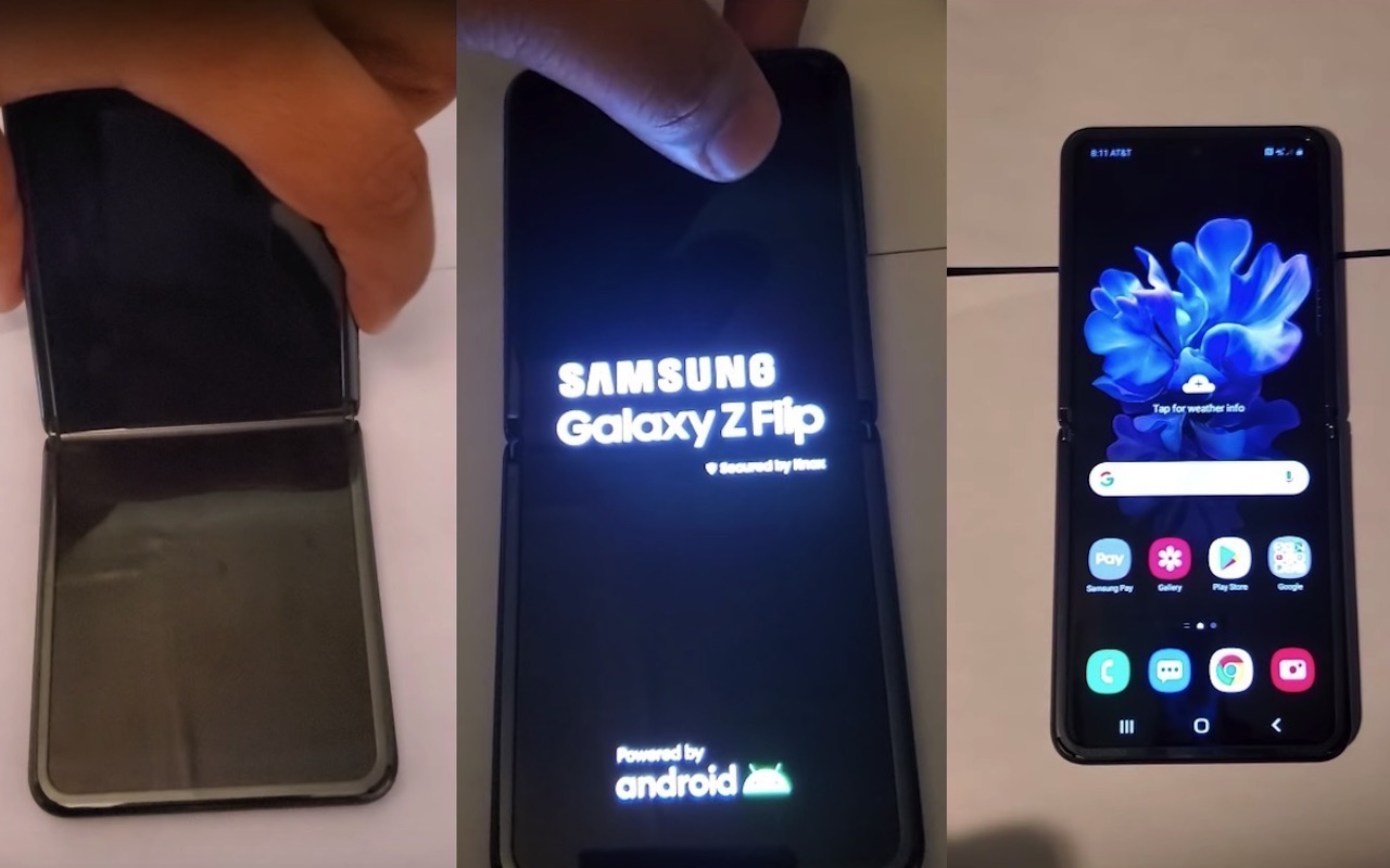 Samsung Galaxy Z Flip Hands On Videos Surface On Youtube Android Community