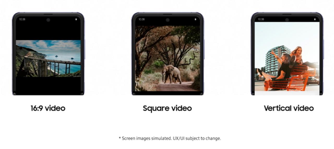 Samsung Galaxy Z Flip YouTube Flex