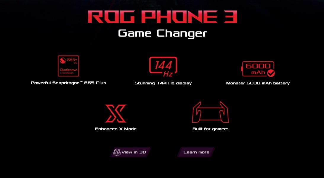 ASUS ROG Phone 3 Specs