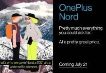 OnePlus Nord 105 Ultra Wide Selfie Camera