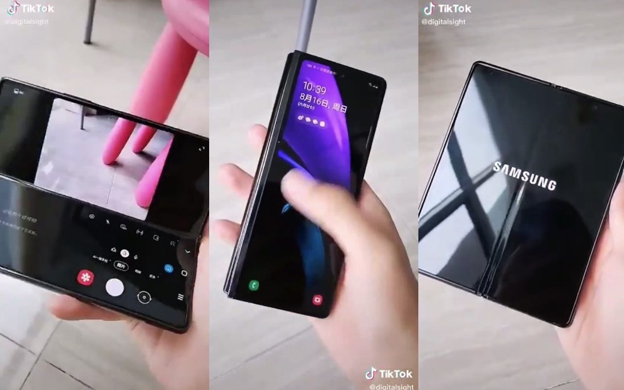 Samsung Galaxy Z Fold 2 5g Spotted On Tiktok Video Android Community