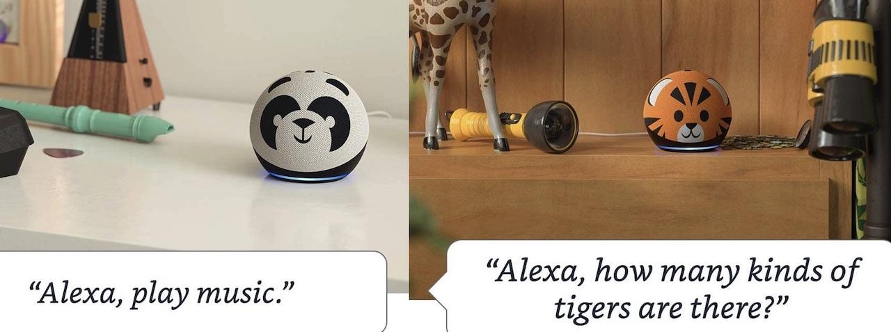 Echo Dot Kids Edition Panda Tiger