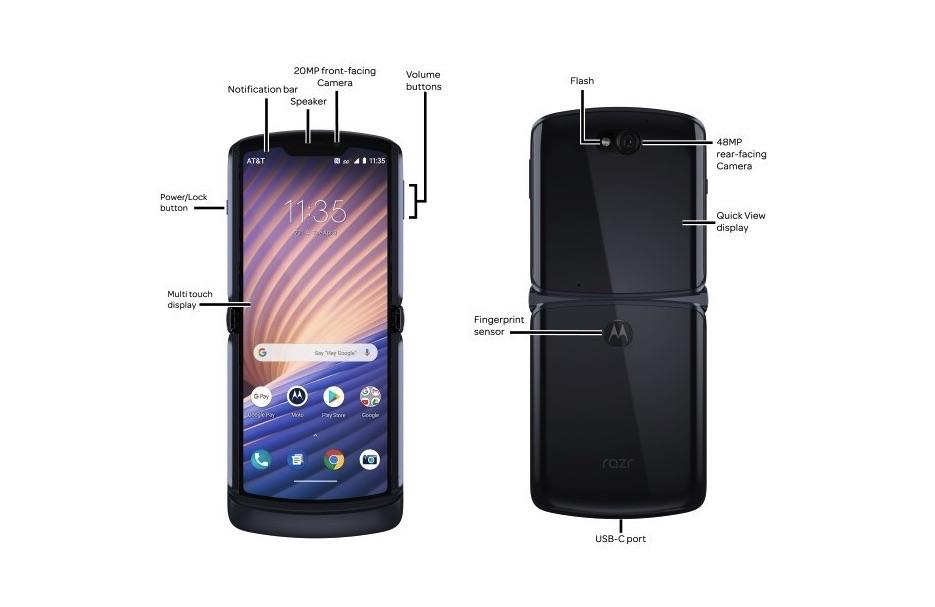Motorola Razr 5G Phone Parts