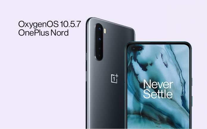 OxygenOS 10.5.7 OnePlus Nord Update