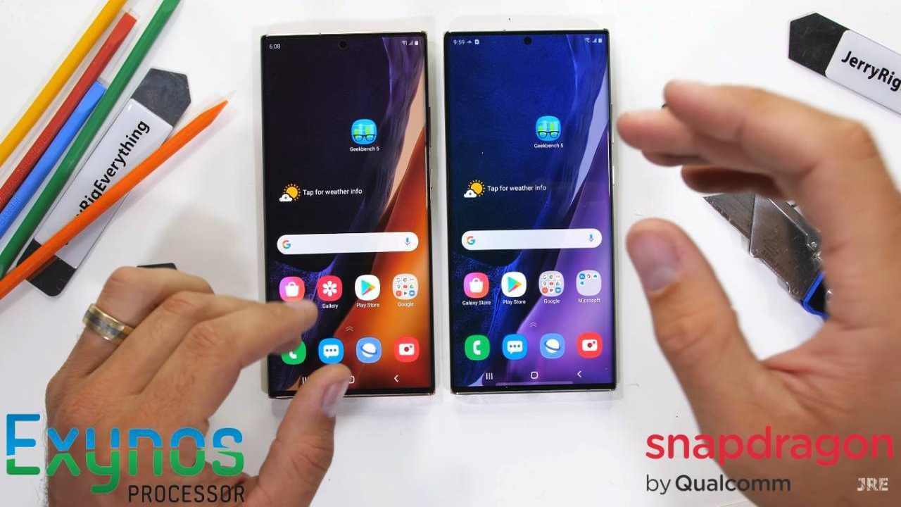 Samsung Galaxy Note 20 Ultra - Exynos vs Snapdragon version