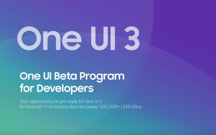 Samsung ONE UI 3 Beta Program for Developers