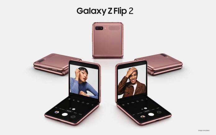 Samsung Galaxy Z Flip 2 Concept Image Spring 2021