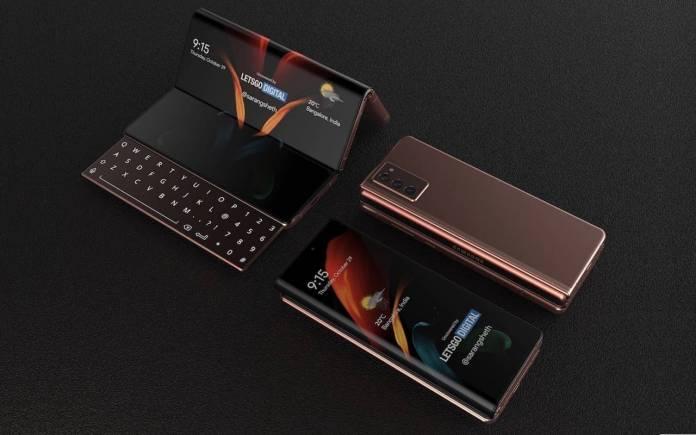 Samsung Galaxy Z Fold 3 with Sliding Keyboard Concept