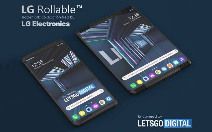 LG Rollable smartphone A