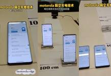 Motorola wireless air charging demo