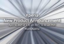 Sony Xperia April 14 2021