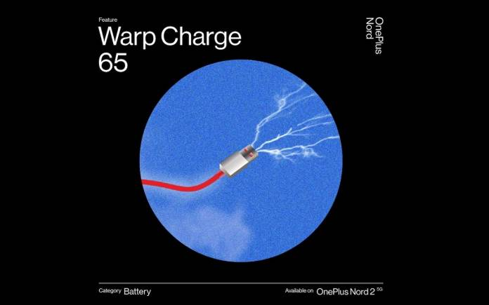 OnePlus Nord 2 Warp Charge 65W