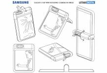 Samsung Galaxy Z Flip with rotating camera in the hinge
